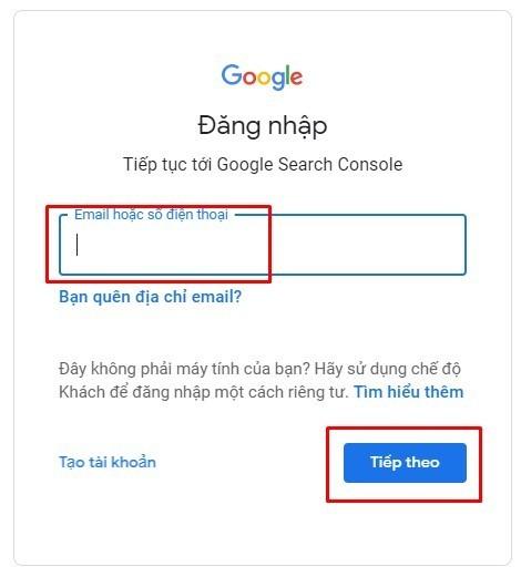 Google search console là gì? – đăng nhập gmail