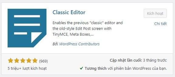 Kỹ thuật Seo Onpage – Plugin classic editor