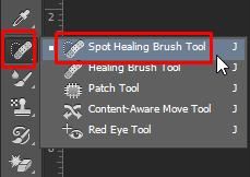 Cách xóa mụn và xóa vật thể thừa trong Photoshop - công cụ spot healing brush tool