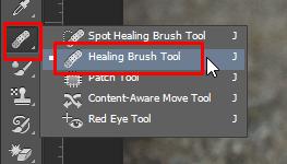 Cách xóa mụn và xóa vật thể thừa trong Photoshop - công cụ healing brush tool