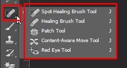 cách sử dụng Photoshop công cụ spot healing brush